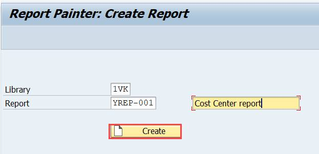 Create a Report Painter report