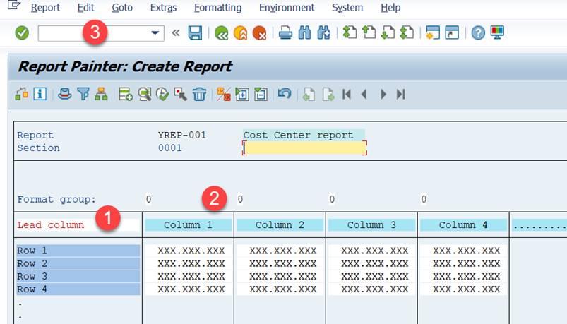 Report Painter report - create