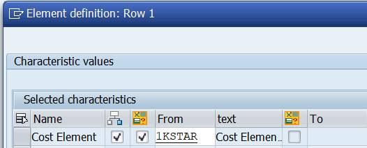 Row: Set variable 1KSTAR