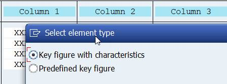 Columns: element type