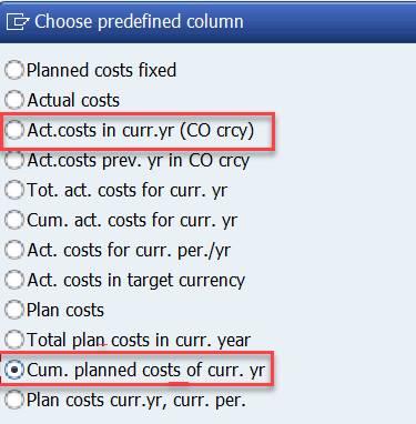 Column 2: predefined column choices
