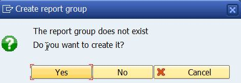 Create report group