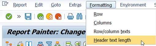 Menu: Header text length