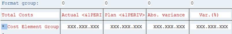 Menu: Column headings - variables