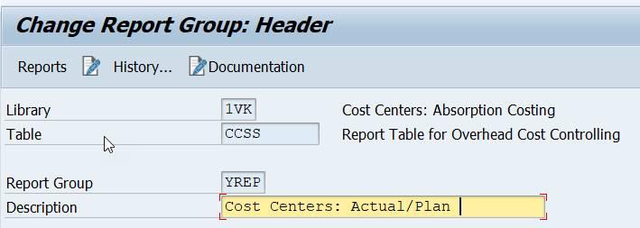 report group: description