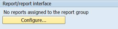 Report/report interface configure