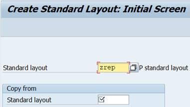 sap menu: Create standard layout