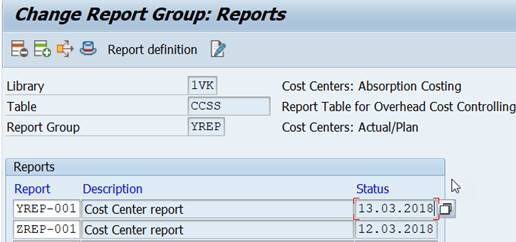 report group: reports