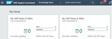 SAP One Support Launchpad